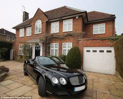 fancy house and car